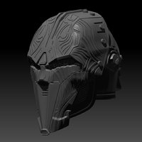 SWTOR Lord Adraas Acolyte Helmet 3D printable model