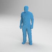 voxel man 3D model