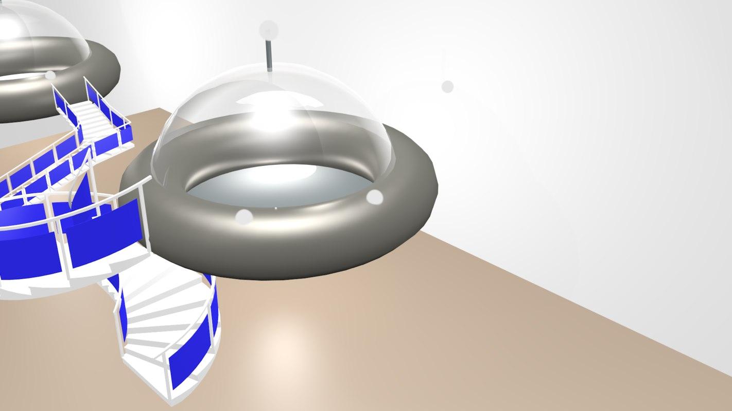 3D model space ship
