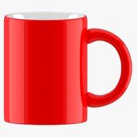3D coffee mug red