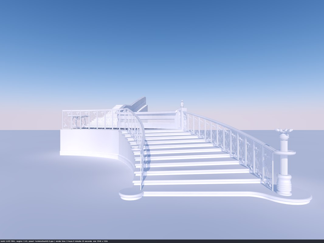 3D organic classic stairs
