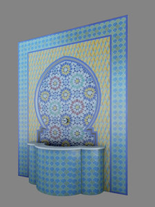 3D traditional fountain morocco architecture model