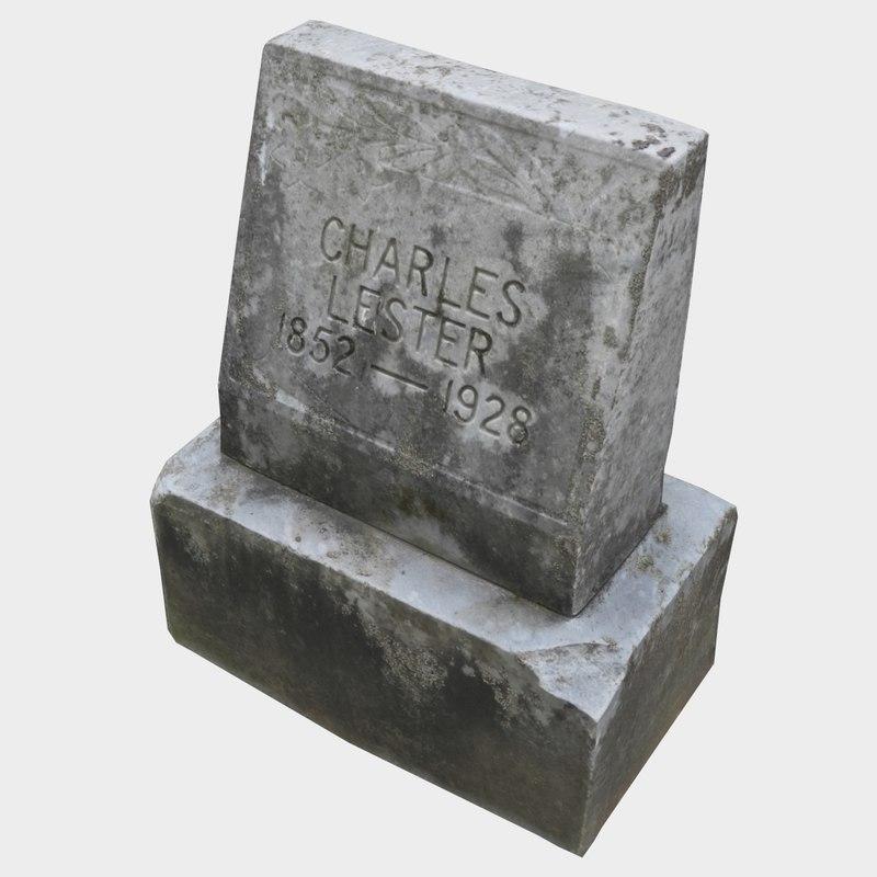 3D tombstone stone