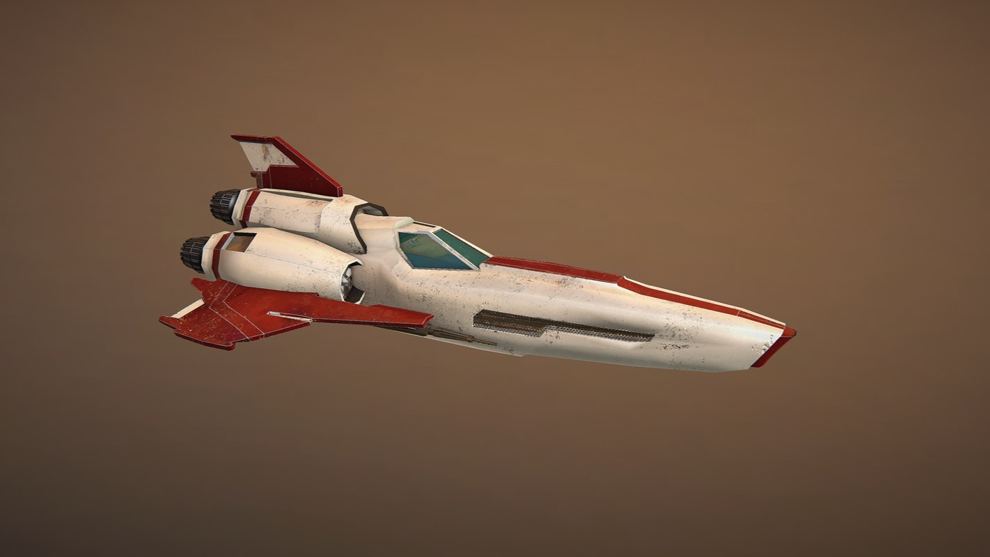 spacefighter space fighter 3D model