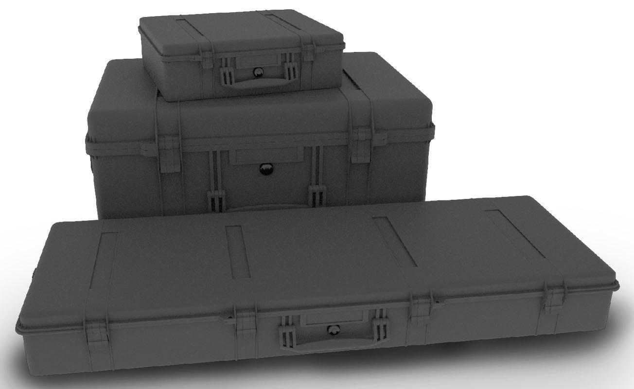 3D weapons case model