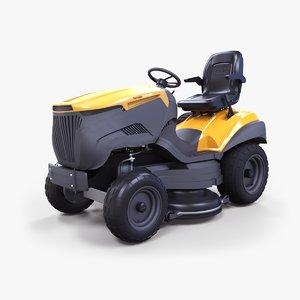 3D model modern lawn tractor