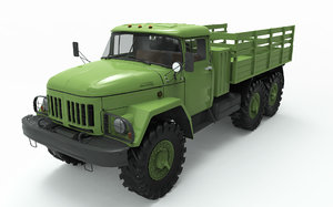 military zil 131 3D model