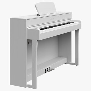piano music instruments 3D model