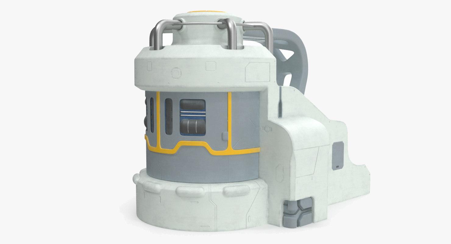 3D sci-fi energy machine