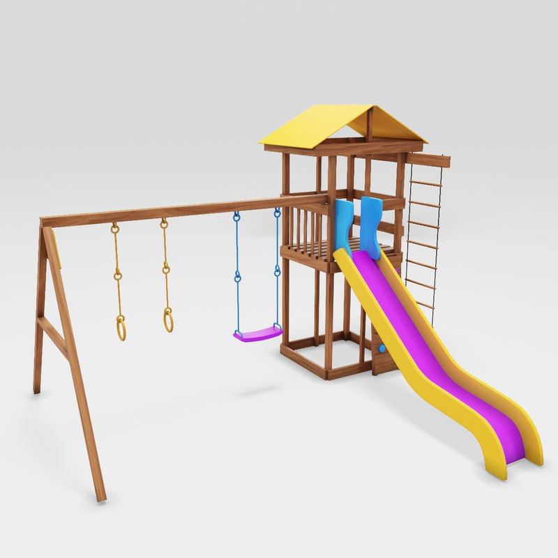 playground cheerful play 3D model