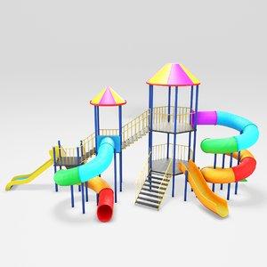 playground children play 3D