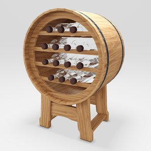 barrel stand wine 3D model