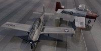 3D plane north american t-28