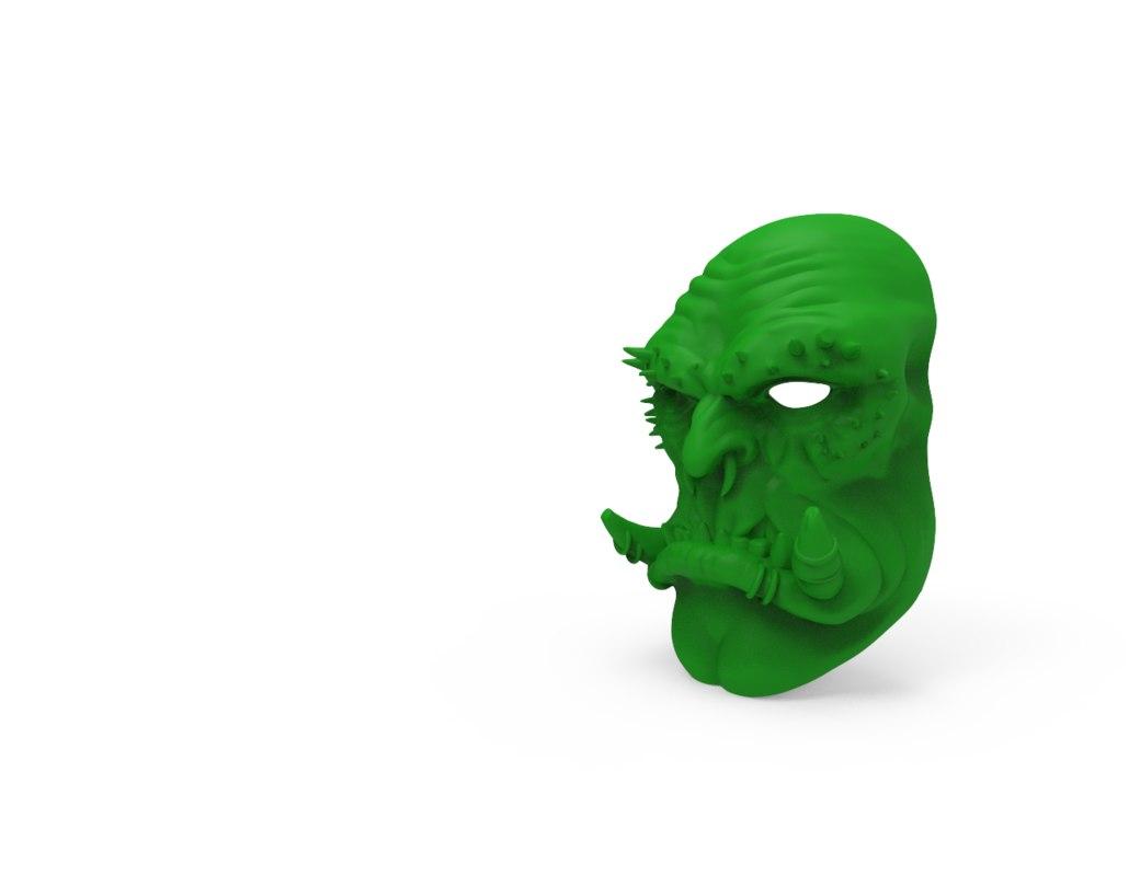 3D guldan mask model