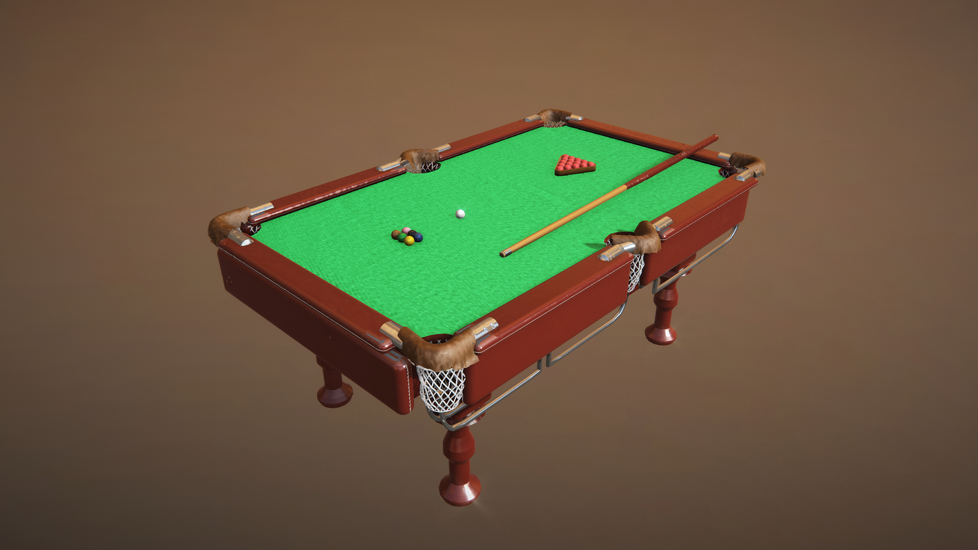 3D snooker table model