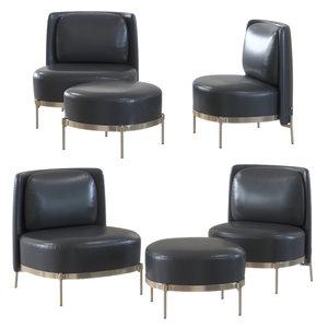 armchairs pouf 3D model