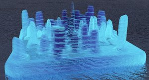 3D ghost island