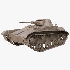 3D tank t 60 soviet