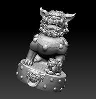 3D guardian lion model