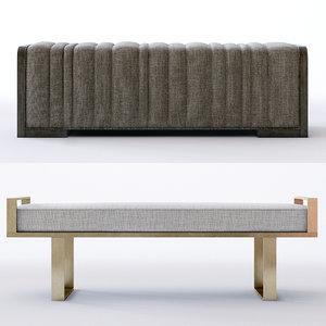 3D model profile bench