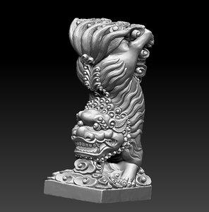3D guardian lion