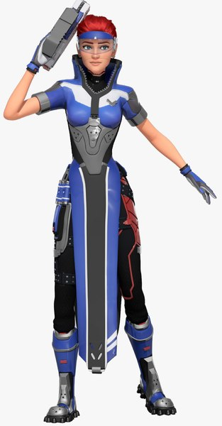 3D overwatch character katya