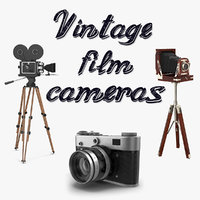 Vintage Film Cameras 3D Models Collection