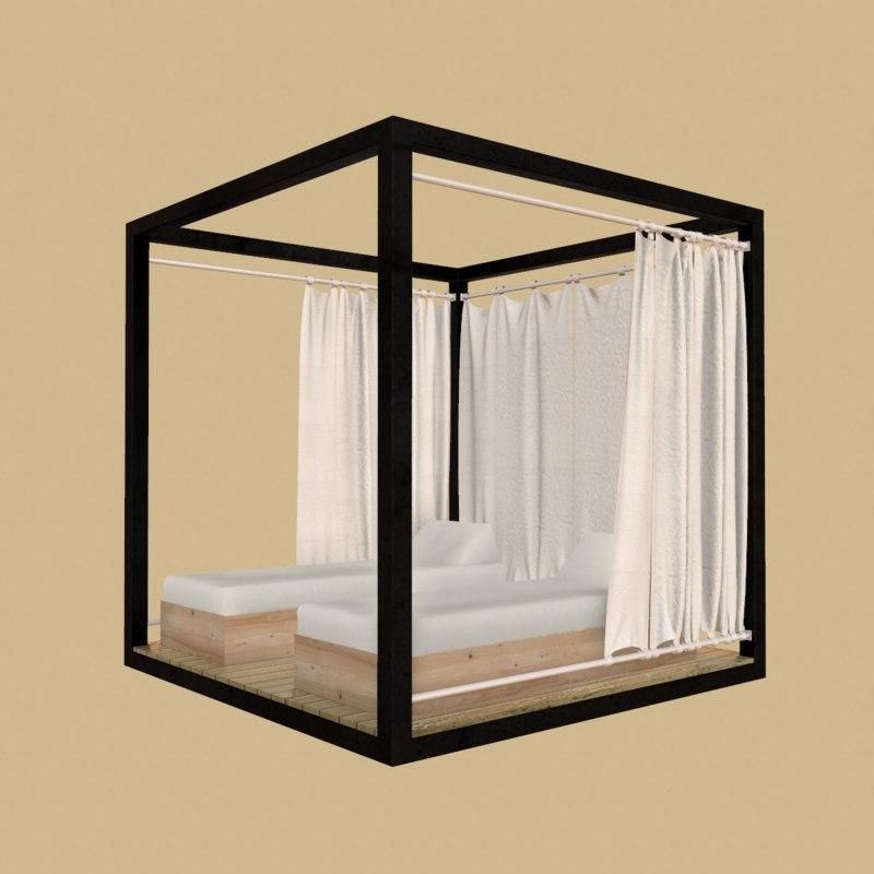 3D beach bed