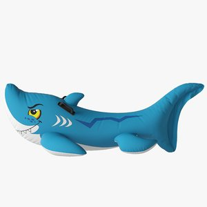 3D pool inflatable shark