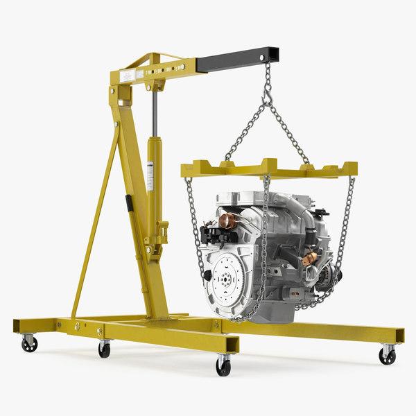 steel engine hoist v6 model