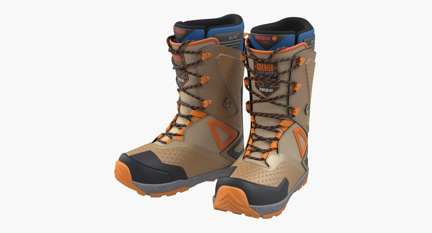 snowboarding boots thirtytwo 3D model