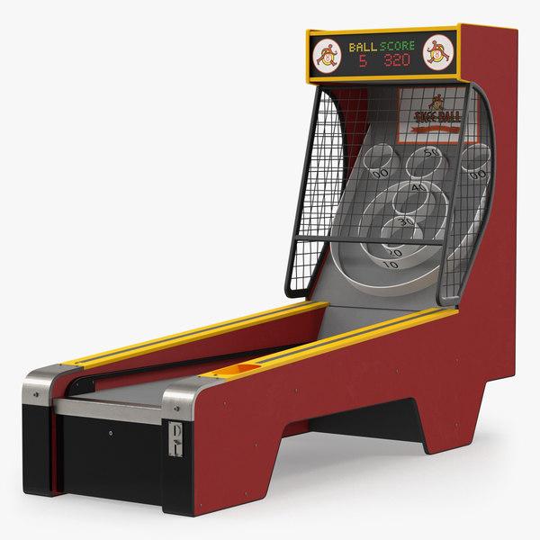 skee ball arcade 3D