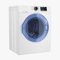 3D model samsung white load dryer