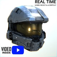 master chief helmet halo model
