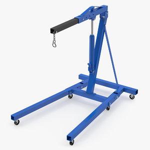 3D model hydraulic engine crane