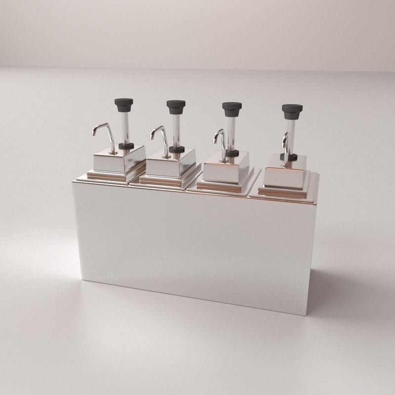 3D condiment dispenser