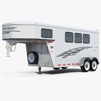 horse living quarters trailer model