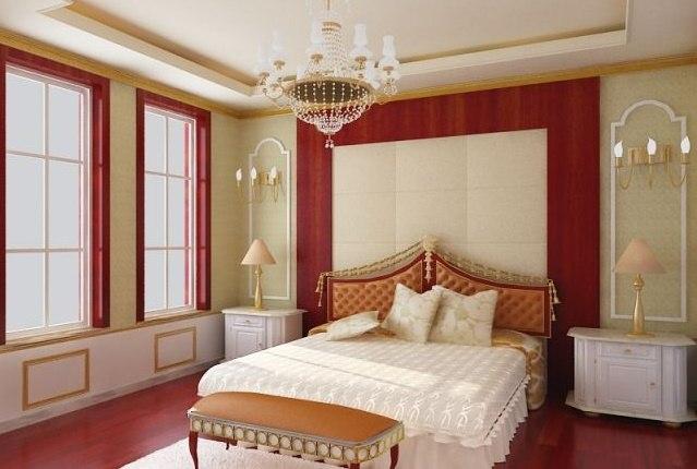 bedroom room 3D model