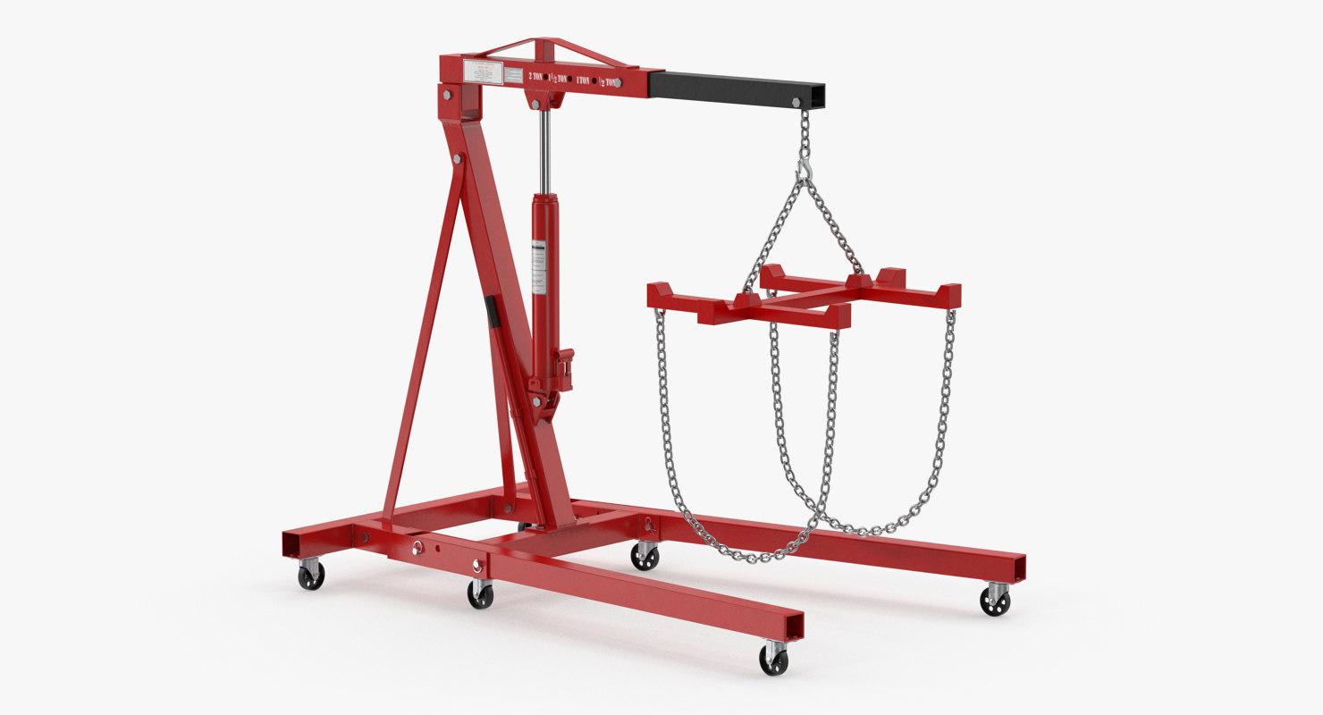 3D folding engine crane