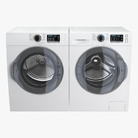 Dryer and Washing Machine Generic White