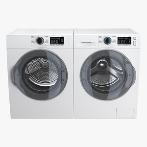 dryer washing machine generic 3D model