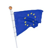 Flag European Union animated