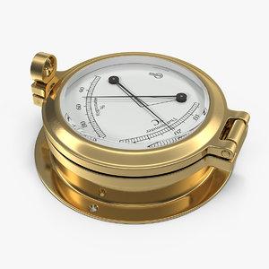 brass ships termometer hygrometer 3D model