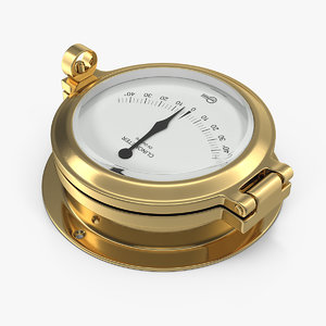 brass ship clinometer 3D model