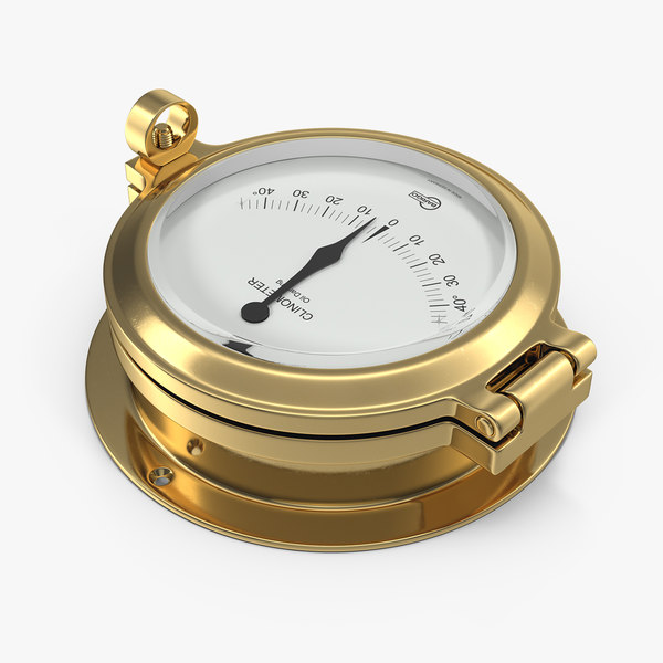 brass ship clinometer 3D model