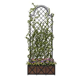 3D pergola flowers