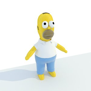 toy homer simpson 3D model