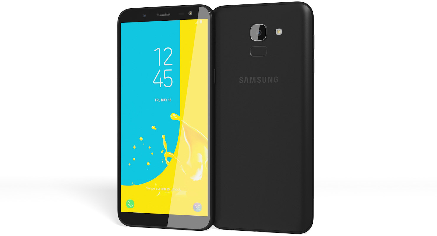 3d Realistic Samsung Galaxy J6 Model Turbosquid 1289130