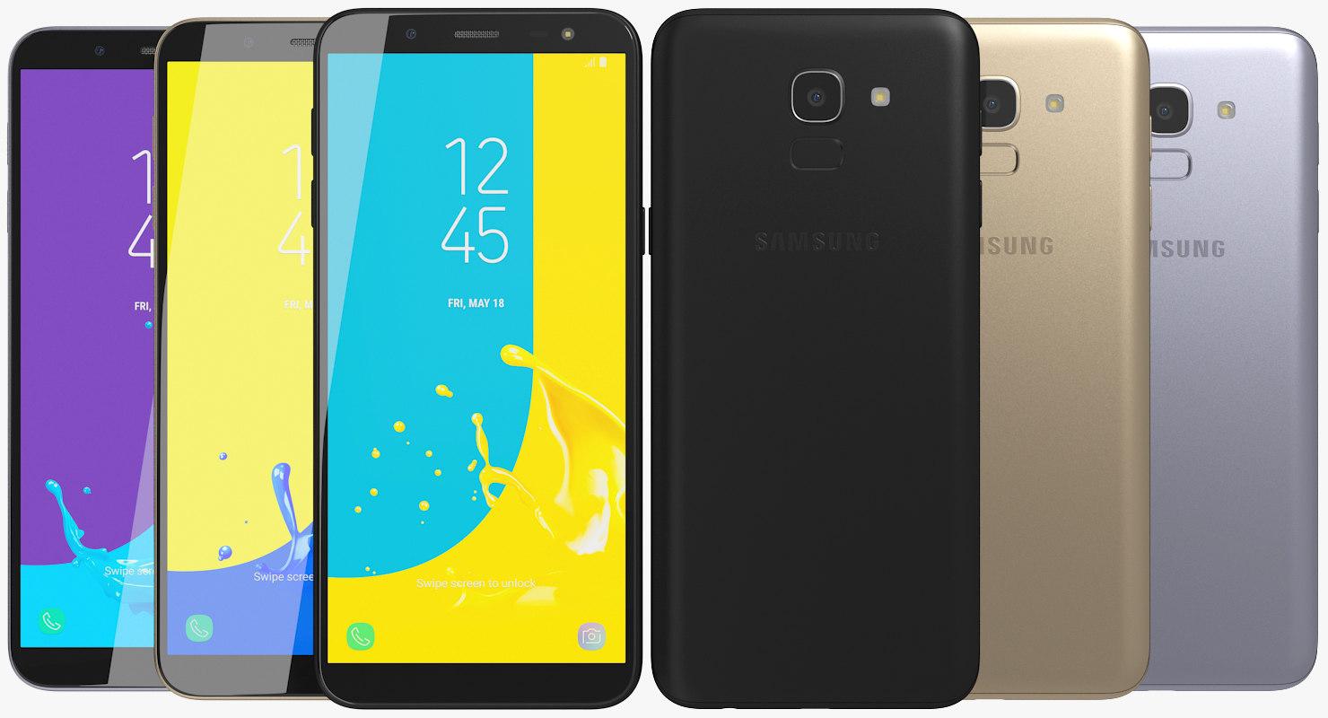 Realistic Samsung Galaxy J6 3d Turbosquid 1289136