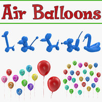 Air Balloons 3D Models Collection